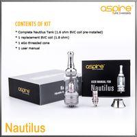 100% D'origine Geniune Aspire BVC Nautilus Kit De Réservoir Ajustable Débit D'air Clearomizer 5.0 ml Système De Réservoir BVC E Électronique Cigarettes Atomiseur