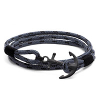4 size Tom Hope bracelet Eclipse grey thread rope bracelet s...