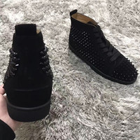 French- design Spikes Red Bottom Sneakers Shoes Women, Men Cas...