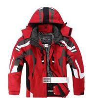 Herbst-Schwarz-graue neue Herren-Skianzug-Jacke-Mantel wasserdichte Snowboard-Kleidung-Skianzug Jacke S M L XL XXL-Größe