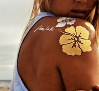 Or autocollants flash de tatouage luxe tatouages or métal tatouages autocollant d'or tatouages métal tatouages temporaires autocollant de tatouage de gros
