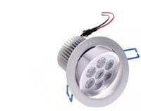 7x1 W LED Tavan Spot Işık Lampe Gömme Montaj 7 W Dim 110 V 220 V Süpermarket Banyo Kapalı Lampada için Dekorasyon Sıcak beyaz CE FCC LLF