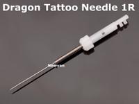 Frete grátis 50 pc agulha de maquiagem permanente agulha 1R Agulha e 50 pc dicas para máquina de tatuagem de dragão
