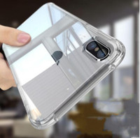 Прозрачный кристально чистый анти-шок ТПУ чехол для iphone X 8 10 7 6 6 S плюс 5S SE Galaxy S8 плюс Примечание 8 мягкие TPU резиновая защитная крышка