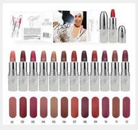 Livraison Gratuite NOUVEAU top qualité Maquillage Mat Rouge À Lèvres maquillage lèvres brillant 12 couleurs différentes (12 Pièces / Lot)