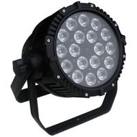Envío gratis de alta calidad dos años de garantía 18x18W 6in1 RGBAW + UV impermeable LED Par luz IP65 al aire libre