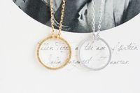 2016 الأزياء 18 كيلو الذهب والفضة مطلي الشكل للأبد دائرة قلادة قلادة قلادة للنساء هدية شحن مجاني بالجملة