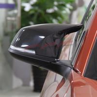 Couvercle de miroir de style de remplacement sans fibre de carbone Vue arrière pour BMW 1 SER F20 F21 116I 118I 120I M135I M3 M4 2012 2013 2014 2015