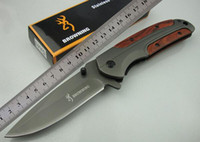 Browning DA43 Titanium Folding Knives 3Cr13Mov 55HRC Wood Ha...