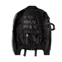 Fall-Winter Men Jackets Thick MA1 Bomber Jacket Straps Hip Hop Tyga Pilot Jacket Windbreaker Men Coats  SMC0172-4.5
