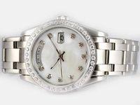 Горячие продажи нержавеющей стали Мужской часы, высокое качество автоматические часы верхнего качества мужские наручные часы Мода Diamonds ободок R38