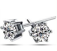 30% 925 Orecchino Sterling Silver vendita calda di cristallo Sei orecchini per i monili delle donne del partito della ragazza di modo di trasporto libero all'ingrosso 0164WH