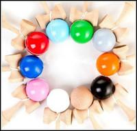 18см большой размер kendama бал японской традиционной древесины игры игрушка образование подарок 18 цветов новинка игрушки подарок J071504# БДХ