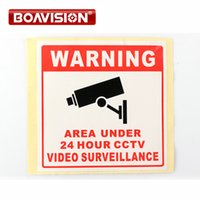 20Pcs Size 80*80MM Decal Sticker Warning Board 24HR CCTV Cam...