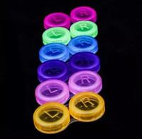 Yüksek Kaliteli Renkli Kılıf Lensler Kutu Vaka Moda Kontakt Lens Kılıf Promosyon Hediye Ücretsiz Kargo