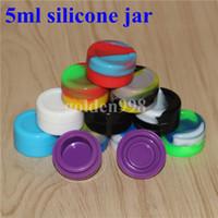 Récipient rond réutilisable de pot de silicone de 5ml antiadhésif pour le silicium de vaporisateur de butane de vaporisateur de butane de cire de cire de Bho d'huile de Bho