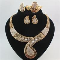 Ensembles de bijoux Cristal autrichien rempli de cristaux autrichiens de culture égyptienne antique 18K Gold Bracelet rempli de bijoux