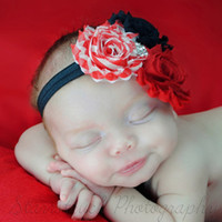 Christmas Hair Accessories for Sale chiffon Flower Headbands...