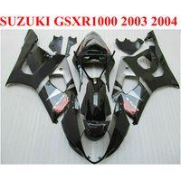 ABS Motorfiets Onderdelen voor Suzuki GSXR 1000 K3 K4 2003 2004 Fairing Kit GSXR1000 03 04 Alle glanzende zwarte backset Set BP46