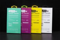 Para iphone 6 4.7 samsung s5 protetor de tela de vidro temperado protetor de filme protetor caixa de pacote de varejo para telefone celular acessório multi cores