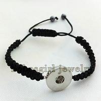 Mais NOVO snap botão pulseira Shambhala pulseira NS766 OEM, ODM (fit 18mm 20mm snaps) noosa snap pedaço de jóias