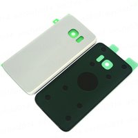50 ADET Orijinal Pil Kapı Geri Konut Kapak Cam Kapak Samsung Galaxy S7 G930f S7 Kenar G935f Yapıştırıcı Sticker ile