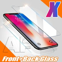 Rear Tempered Glass For IPhone XR XS MAX X Front Back For Ip...