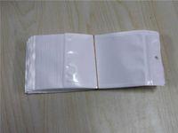 Klare + weiße Perlenkunststoff Poly OPP Packung Reißverschluss Reißverschluss Reißverschluss Einzelhandelspakete Schmuck Lebensmittel PVC Plastiktasche 10 * 18 cm 12 * 15 cm 7,5 * 12 cm