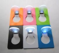 lámpara de la tarjeta de la luz LED de la plaza de bolsillo plegable flash fino tarjeton forma de bulbo elegante 1 6JT de Navidad de excursión que acampa al aire libre B