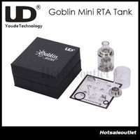 Enorme estoque agora !! UD Youde Goblin Mini Atomizador RTA Tanque de Controle de Fluxo de Ar de 3 ml Aço Inoxidável Rebuildable Atomizador 100% Original