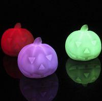 Halloween Pumpkin Night Light LED Colorful LED Night Light H...
