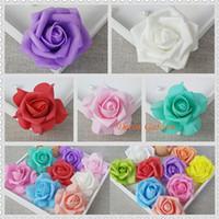 Venta al por mayor 200 unids 7 cm colorida flor artificial hecha a mano simulación rosas vívida hortensia para la boda decoración besos bola envío gratis
