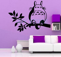 Anime Totoro On The Tree Branch Wall Sticker Decal Home Deco...