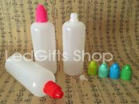Yüksek kaliteli PE plastik damlatma şişesi 120ml plastik, çocukların açamayacağı ilaç kabı PE sıvı eliquid yağ şişesi