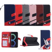 Caso de couro carteira com moldura de foto slot para cartão flip fique case capa para samsung s8 s9 s7 s6 borda nota 8 9 j3 2016 j5 j7 a3 a5 2017