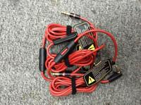 헤드폰 헤드셋 남성에 대한 제어 토크와 MIC 확장 오디오 AUX 남성과의 헤드폰을위한 3.5mm의 교체는 레드 케이블