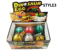 4 tailles oeufs de dinosaures oeuf de pâques dinosaures oeufs de pâques Variété d'animaux Les oeufs peuvent éclore des animaux jouets créatifs Vente chaude
