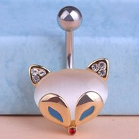 New Arrival Enamel Fox Bulk Body Jewelry Navel Piercing Bell...