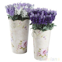 10 Heads Artificial Lavender Silk Flower Bouquet Wedding Hom...