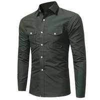 Mens Fashion Clothing New Designer Shirt With Double Pocket ...