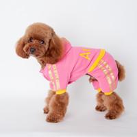 ANGELASHOP vêtements de chien blackpink sport vêtements pour animaux de compagnie pull quatre pieds manteau avec chapeau mignon manteau de coton lettre angel