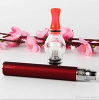 Hot eGo-T batería Starter kit con E Cigarette glass globe Vaporizador tanque Bombilla Atomizador vape plumas cera hierba seca Clearomizer cremallera caso kits