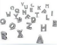 Высокое качество 260 шт. / лот 8 мм DIY Bling слайд буквы С полным стразами английский алфавит подходит для кожаный браслет брелки