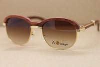 Verkaufen limitierte auflage 18k gold holz sonnenbrille 1116443 dekor holzrahmen hochwertig c dekoration uv400 linse sonnenbrille männlich und weibliche größe: 57-18-140mm
