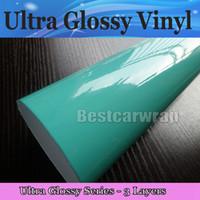 Involucro di vinile Tiffany Blue lucido ultra lucido 3 strati Pellicola di alta qualità Tiffany Car Wrap con aria Formato libero: 1.52 * 20M / rotolo