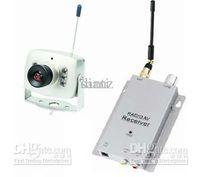 Trådlös Micro CCTV Säkerhet Mini Pinhole A / V Audio Surveillance RC Camera Receiver 1.2GHz Kit
