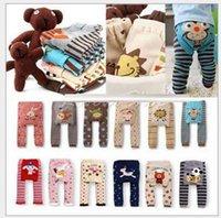 18 pçs / lote popular presentes de Natal Calças de inverno bebê meninas meninos busha pp calças usar crianças leggings colegas d6015