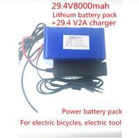 Yeni 24 v 8ah 7S4P pil 15A BMS 250 w 29.4 V 8000 mAh pil paketi tekerlekli sandalye için motor kiti elektrik gücü + 2A şarj