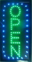 """LED Ouvert Vertical LED Enseigne Néon 19x10 """"Plus Lumineux avec Animation On / Off + Interrupteur On / Off + Chaîne"""