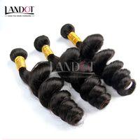 3ピースロット8-30インチカンボジアルーズウェーブウェーブレイバージンヘアグレード7a未処理の人間の髪の毛織りバンドル自然な黒の伸びまり二重wefts